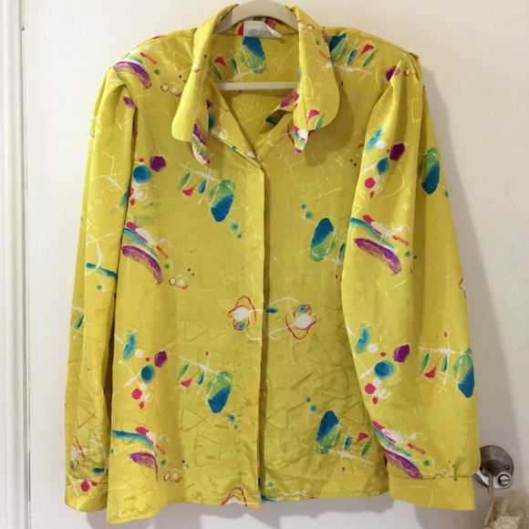 50% OFF Totally rad 80s blouse